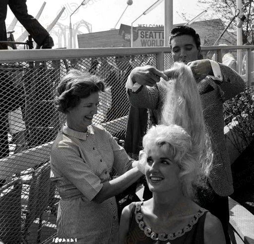 Elvis On The Set Of The Movie It Happened At The World S Fair