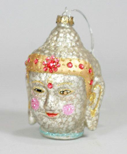 Jeweled Buddha Head Christmas Ornament - Jeweled Buddha Head Christmas Ornament Christmas Christmas