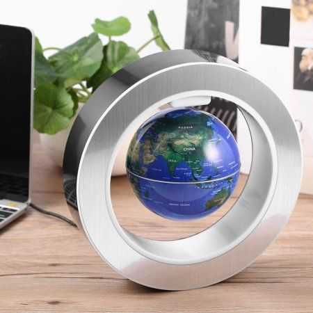 4 Inch Magnetic Levitation Globe With LED Light Electronic Floating Globe  Home Decoration Kids Birthday Gift a824bd996c8f