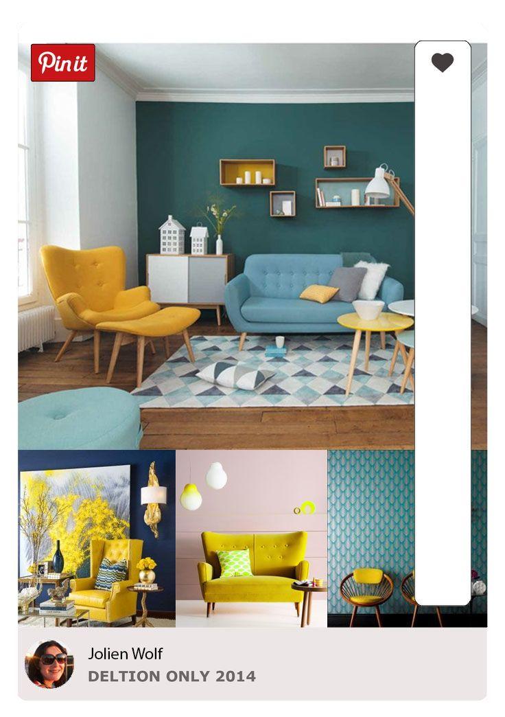 Interieur Blauw Geel  Photoshop in 2019  Woonkamer geel