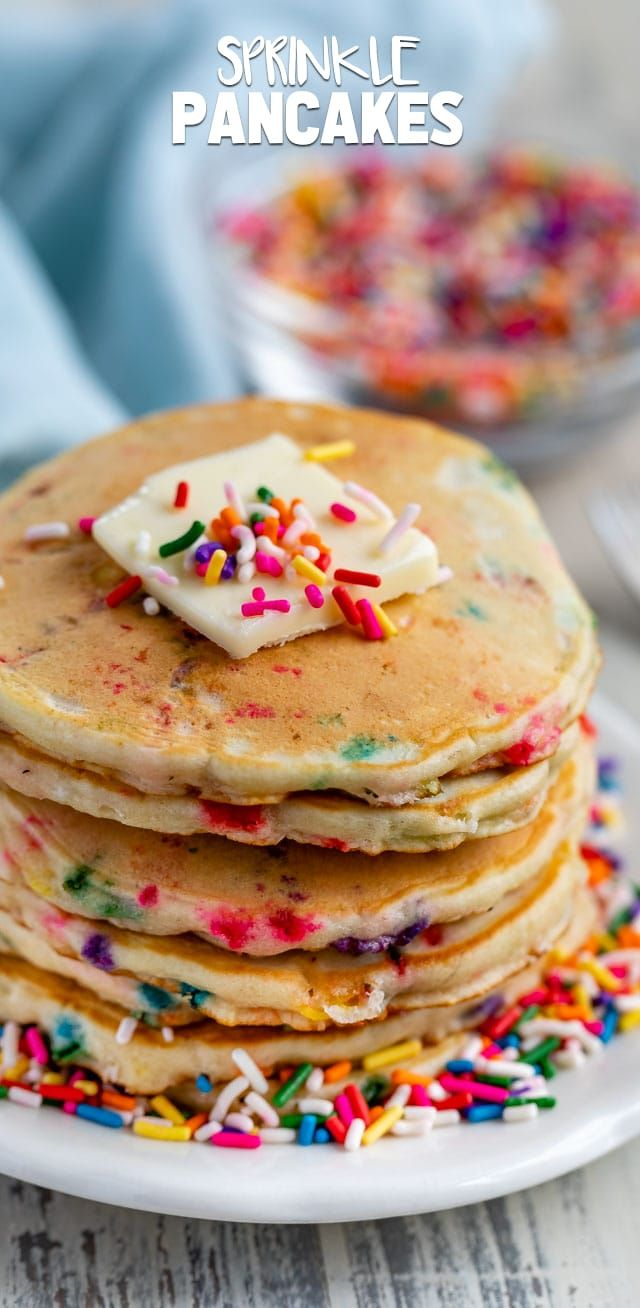 Sprinkle Pancakes - Crazy for Crust