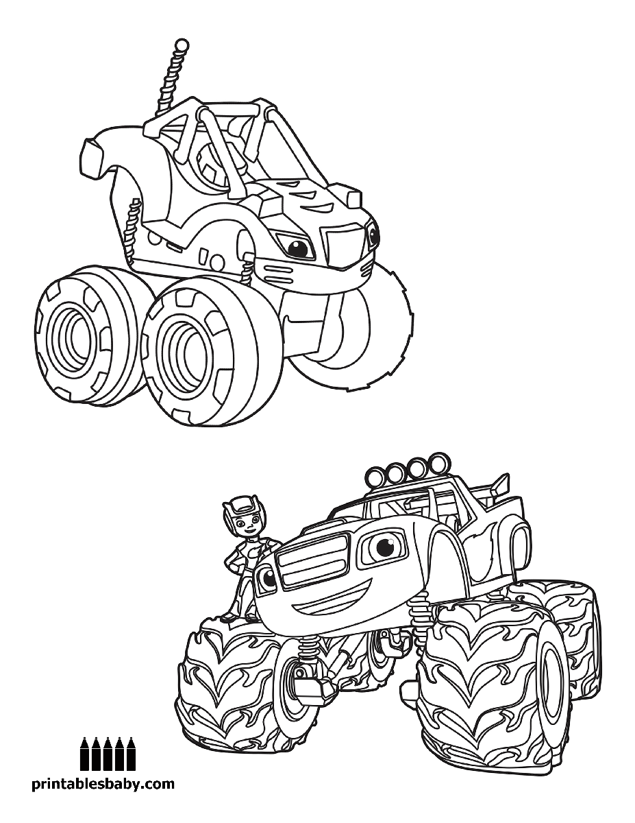 Blaze and the monster machines pre k activities for Printable blaze coloring pages