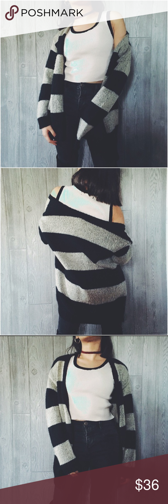🆕 Striped Cardigan Striped Thick Sweater. This sweater screams cozy chic! pair it with a black graphic tee, large hoops, and jeans for the ultimate look. Bundle to save ❤️ vintage Urban Outfitters Sweaters Cardigans