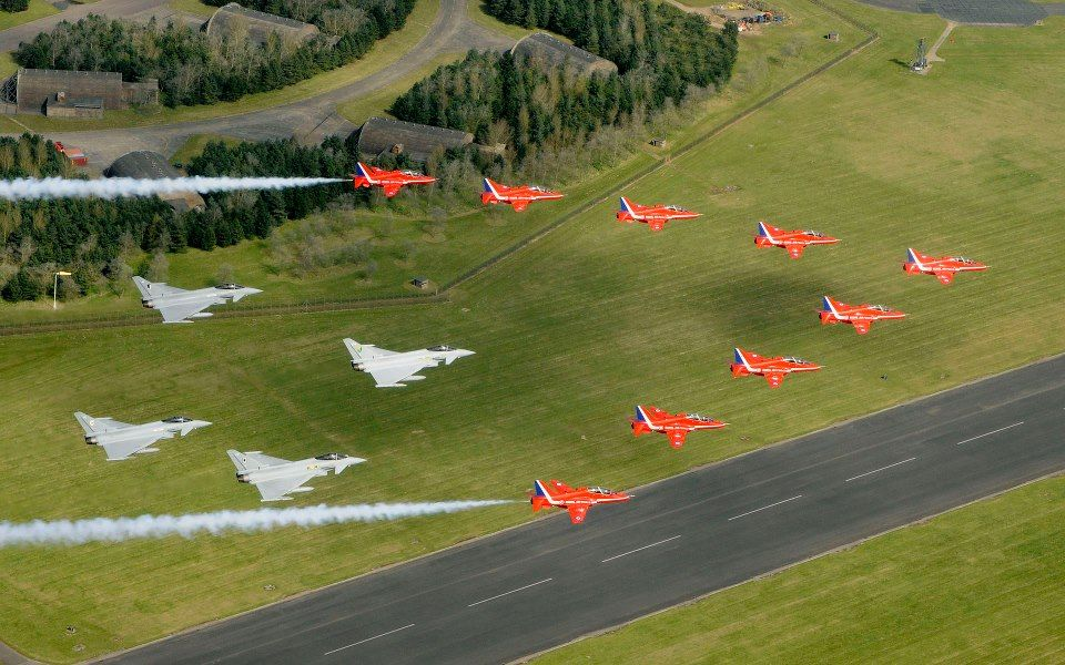 RAF  Red Arrows & Eurofighters
