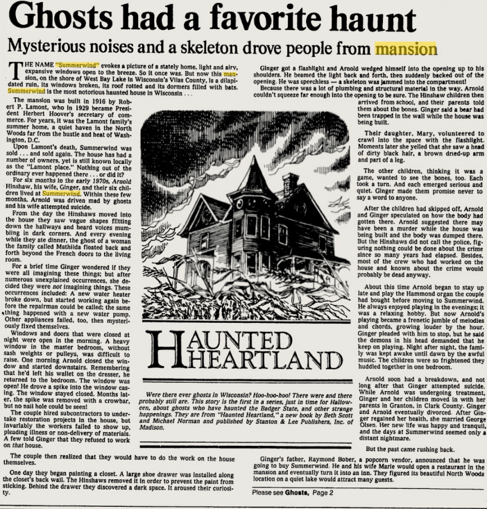 Article From 1985 Summerwind Mansion