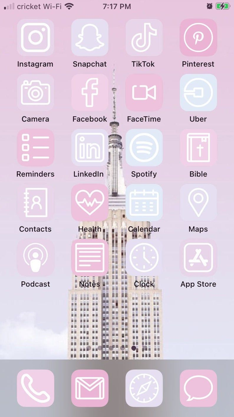 Pink Ombre Ios 14 Aesthetic Iphone App Icons 50 Pack In 2020 App Icon Iphone Apps Iphone Wallpaper App