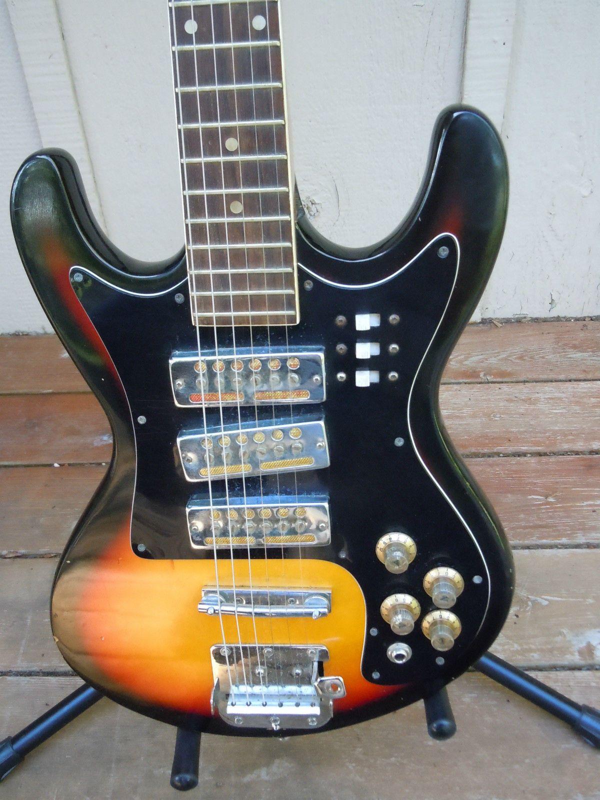 vintage electric japanese guitar teisco kawai kingston similar [ 1200 x 1600 Pixel ]