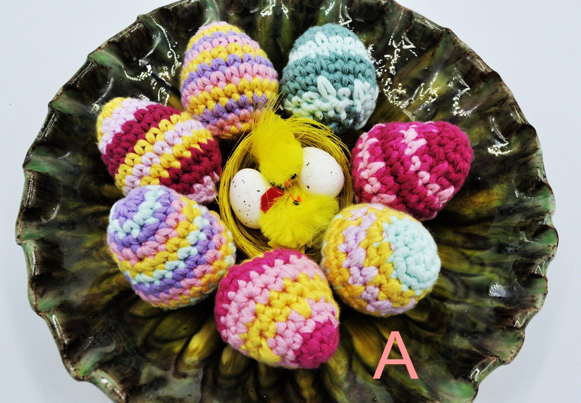 Crochet easter eggs spring table decor egg ornament