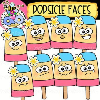 {FREE} Popsicle Faces: Summer Clipart {DobiBee Designs ...