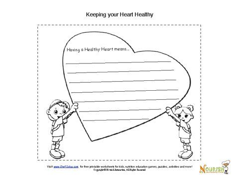 Promise Your Heart Activity Heart Healthy Kids Nutrition Nutrition