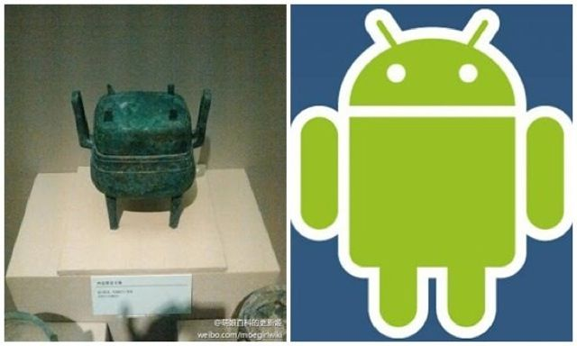 Apparently Android is based on an ancient Chinese relic.     http://kotaku.com/5952779/googles-android-robot-looks-like-this-ancient-chinese-relic