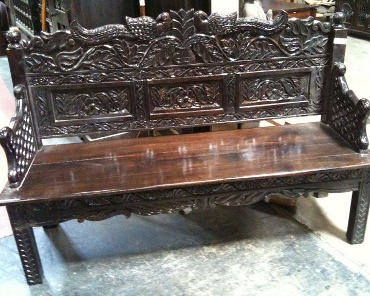 Rustic And Antique Wood Benches Hand Carved Furniture How To