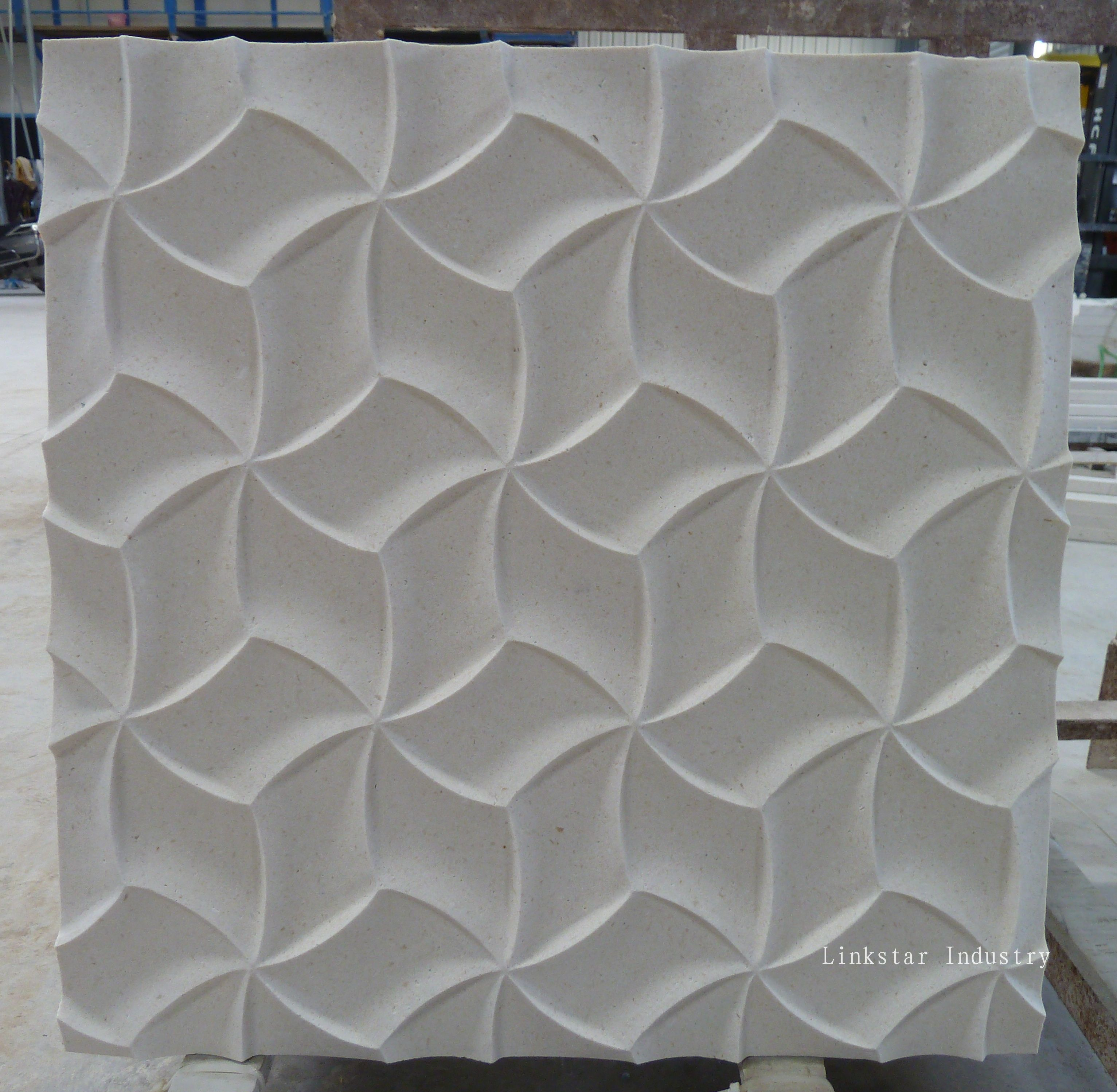 3d Cnc Interior Design With Stone Wall Will Add Texture