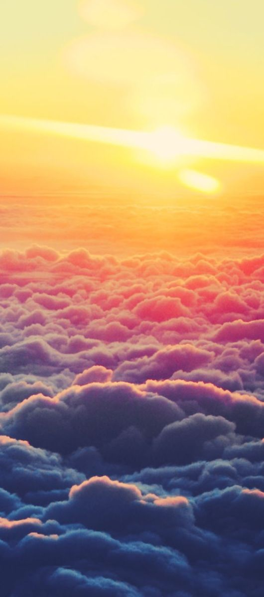 Flying Above The Clouds The Sun Is Always Shinning On Top