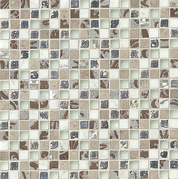 Alyse Edwards Suave Collection TaDah Mosaic Calcatta Silver Leaf - Dah tile