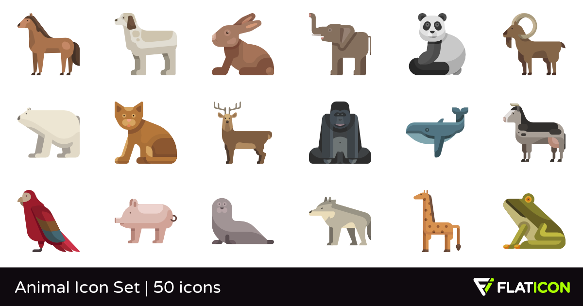 50 premium vector icons of Animal Icon Set designed by