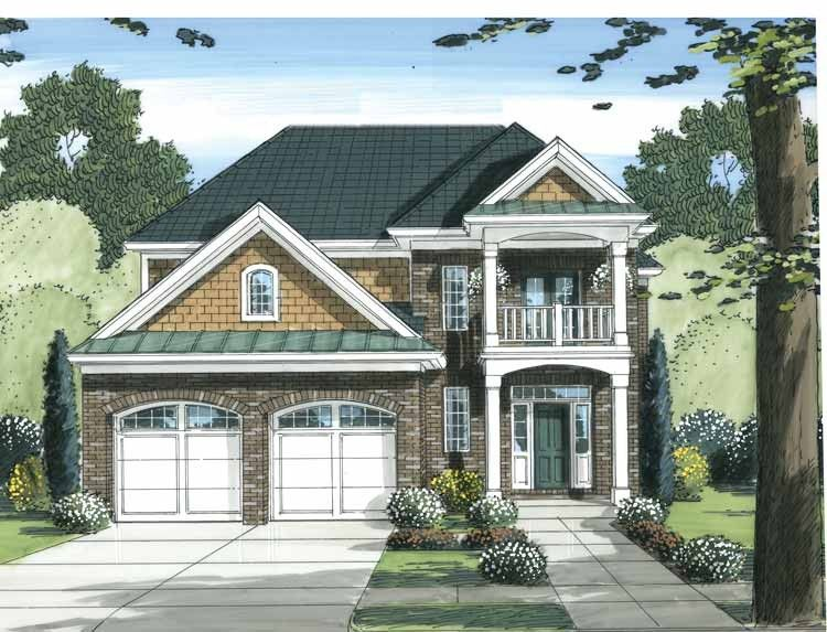 Traditional House Plan with 2137 Square Feet and 3 Bedrooms from Dream Home Source | House Plan Code DHSW68490