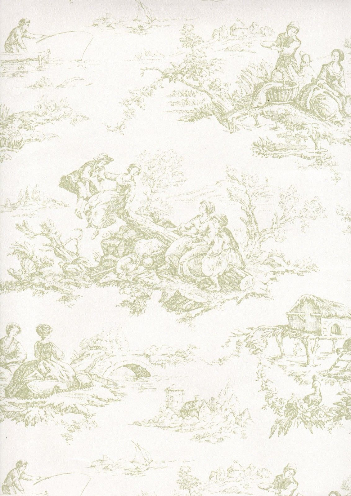 Cute Green Toile Photos and Pictures Green Toile HD