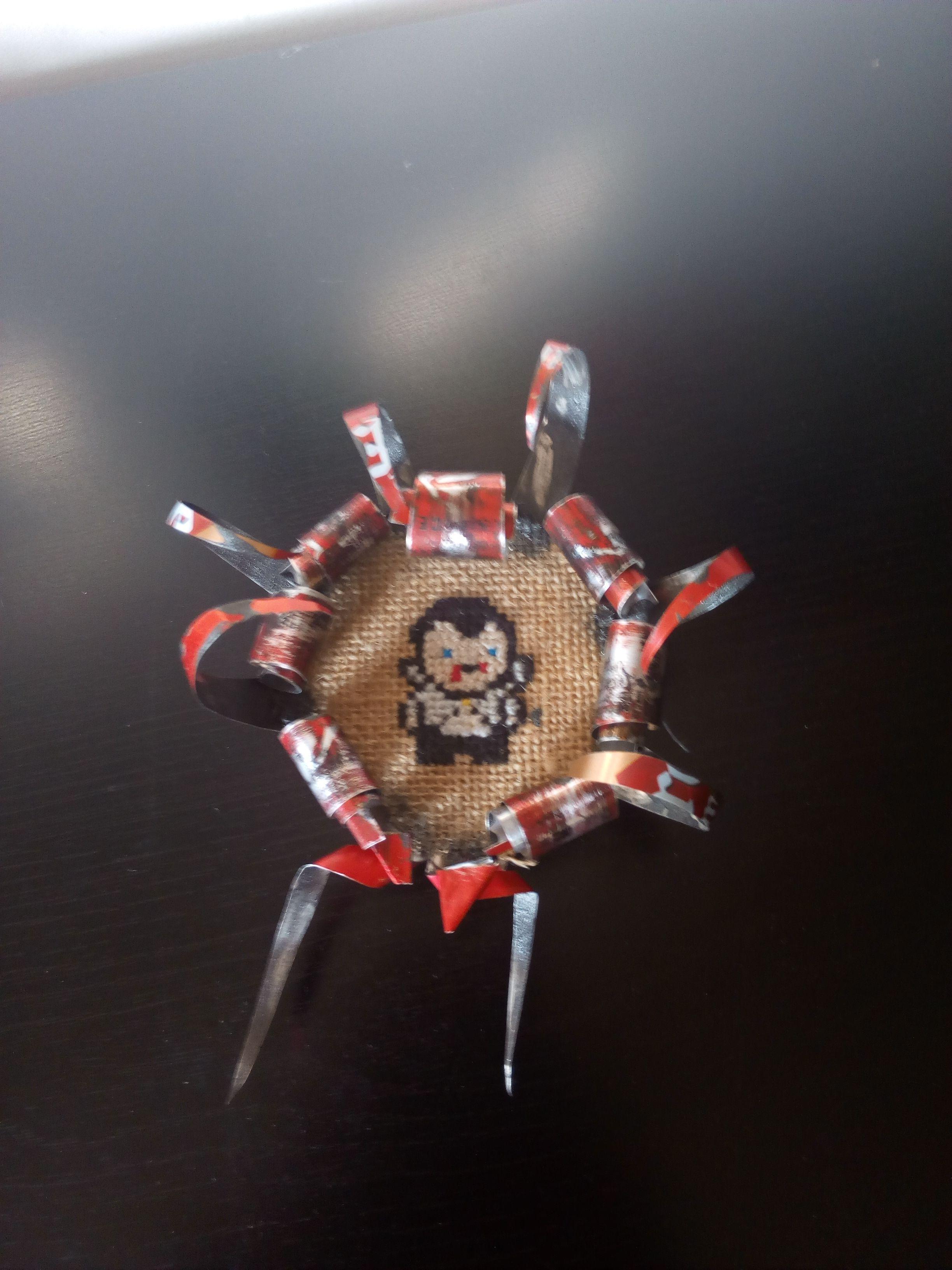 Monstruos Clásicos: El Conde Drácula. Punto de cruz. Marco de lata ...