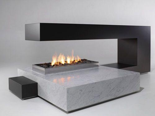 Pin En Fireplace, Open Gas Fireplace Indoor