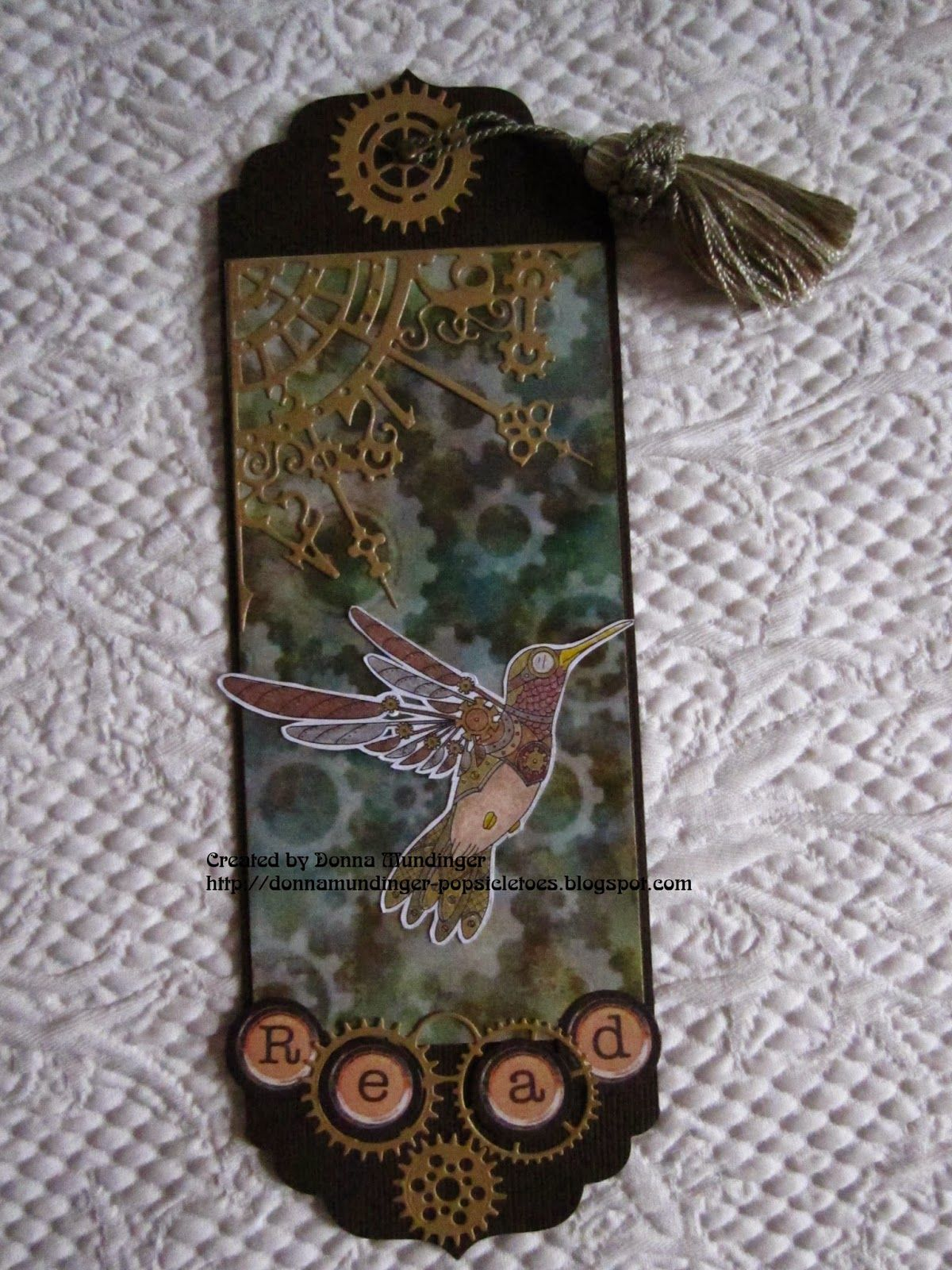 Popsicle Toes: Steampunk Bookmark