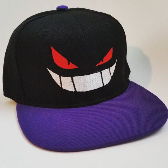 Gengar Snapback by ForceFeed on Etsy Ghost Pokemon 5da3cb1ae4d