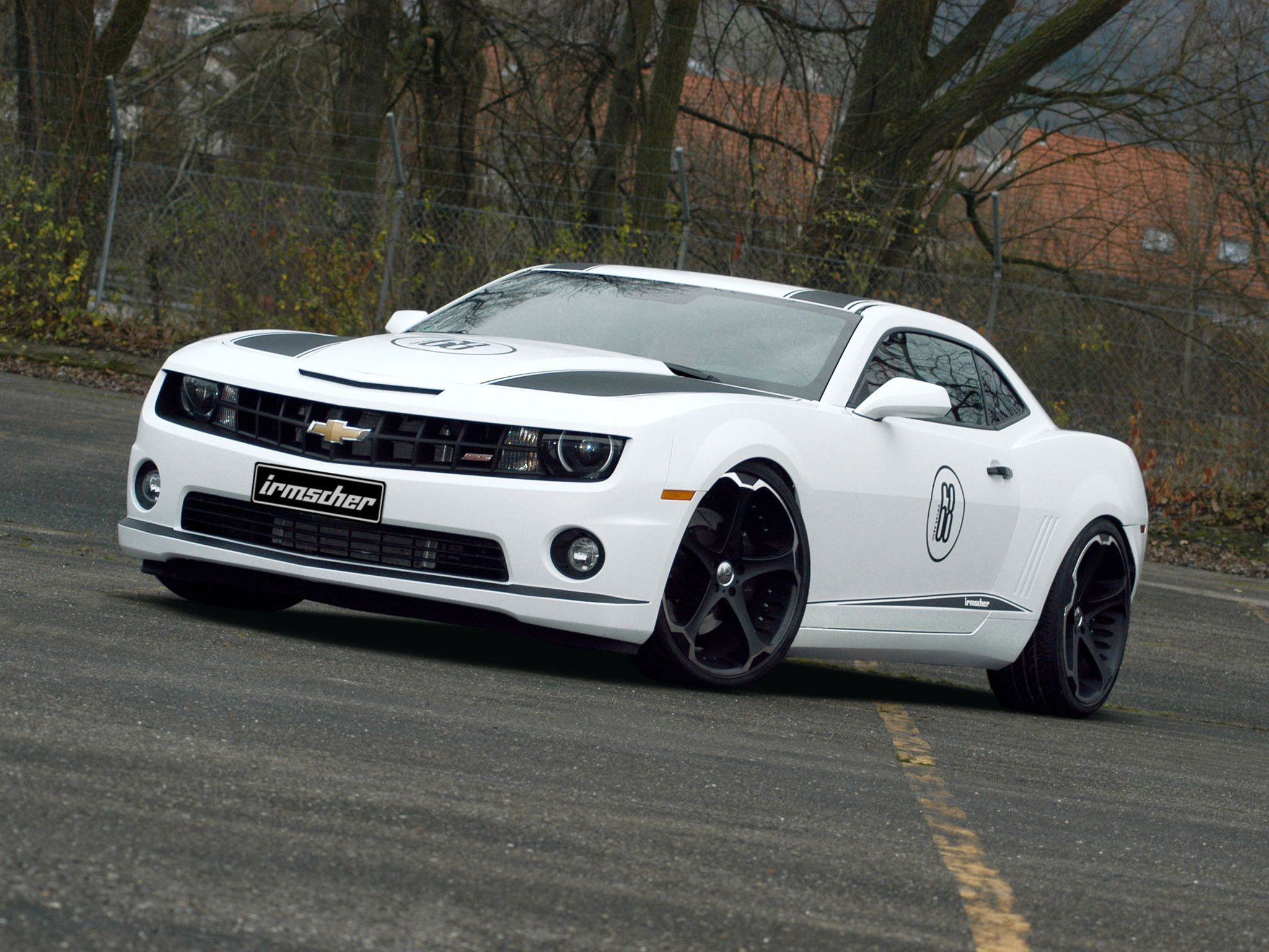 White Chevrolet Camaro On Street Car Picture Car Hd Wallpaper