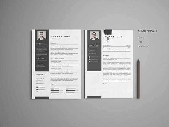 SALE 20 Off / Office Simple-CV / Resume Template / Cover CV