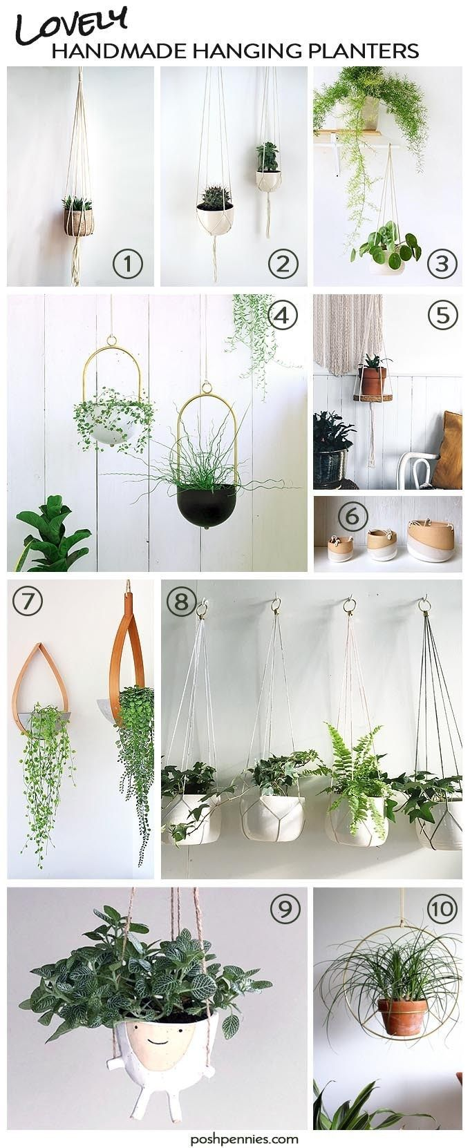 Indoor Hanging Plants that are Hard to Kill  Easy to Love  all the best handmade hanging planters right here