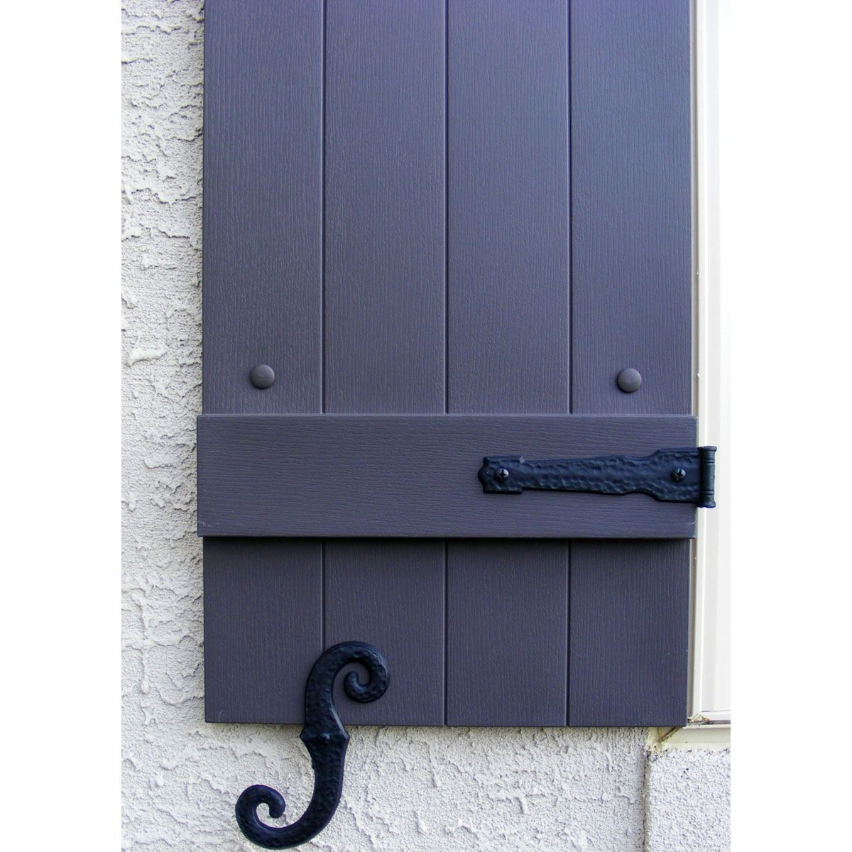 Decorative Vinyl Hinges 4 Hinges 2 S Hooks 002 Black Shutters Exterior House Shutters Interior Window Shutters