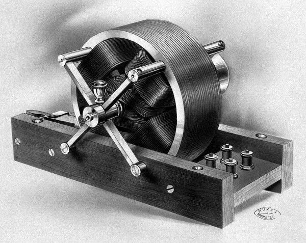 Tesla S First Induction Motor This Historic Model Is One Of The Two Presented Before American Insute Electrical Engineers