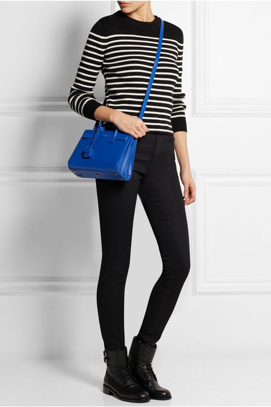 Saint Laurent Sac De Jour Nano Leather Shoulder Bag