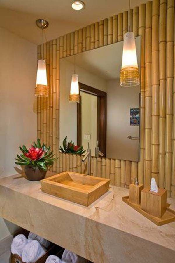 Decorate Your Home With Creative Diy Bamboo Crafts Bamboo Decor Bamboo House Bamboo Bathroom