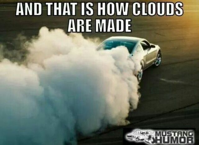 Mustang clouds ☁️☁️☁️