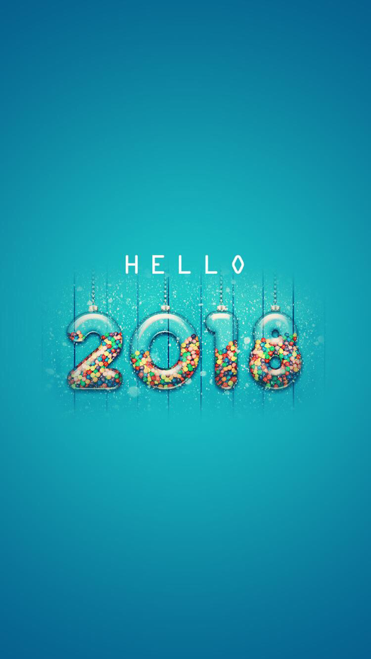Hello 2018   New Year 2018 Wallpaper For IPhone And Android