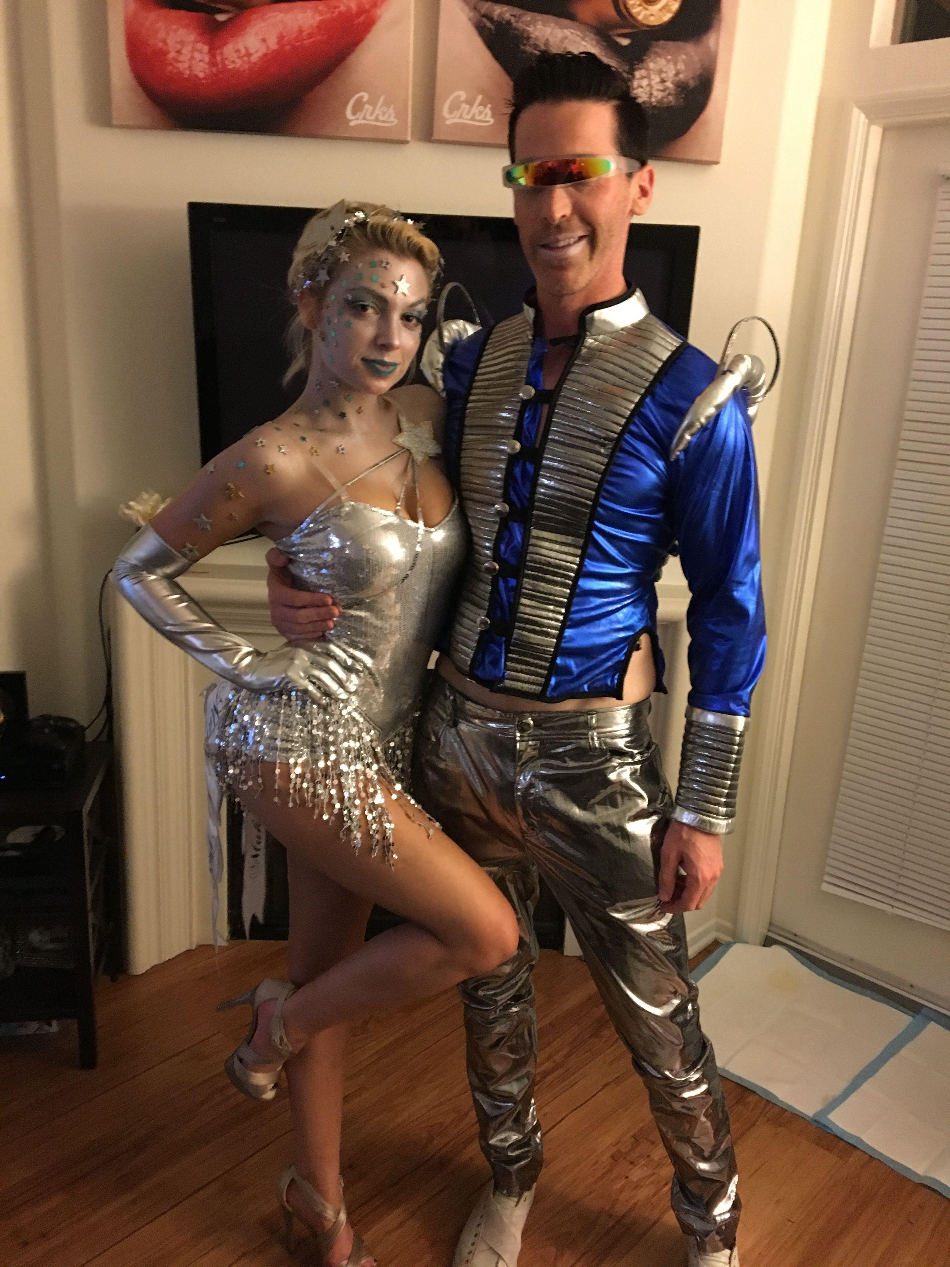 Shooting Star And Galaxy Man Couples Halloween Costume Space Man Star Couples Halloween Space Party Costumes Couple Halloween Costumes Alien Costume Women