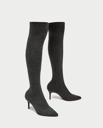 The Style Zara BootsShoes Over Overknee Sock Knee tsdhQxrCB