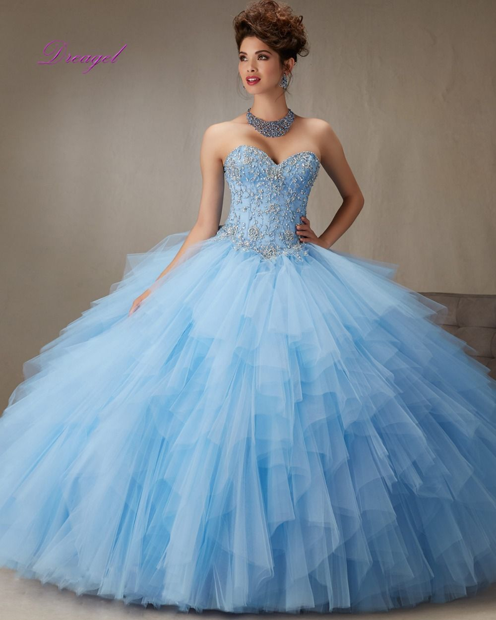 Dreagel High-end Custom Luxury Crystal Sequined Beaded Quinceanera ...