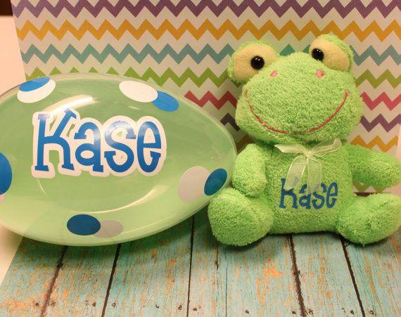 Personalized jumbo easter egg stuffed animal set babys 1st personalized jumbo easter egg stuffed animal set babys 1st easterbaby giftbaby negle Choice Image