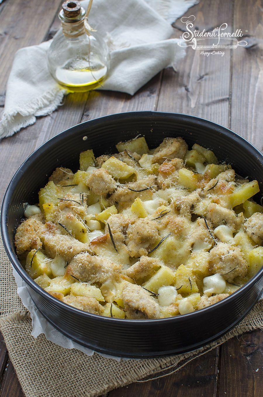 Ricetta Veloce Secondo.Sbriciolata Pollo E Patate Ricetta Geniale E Sfiziosissima Ricette Ricette Con Pollo Pollo E Patate