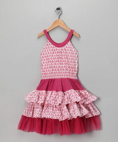 Pink Butti Tiered Ruffle #Dress from Masala Baby on #zulily