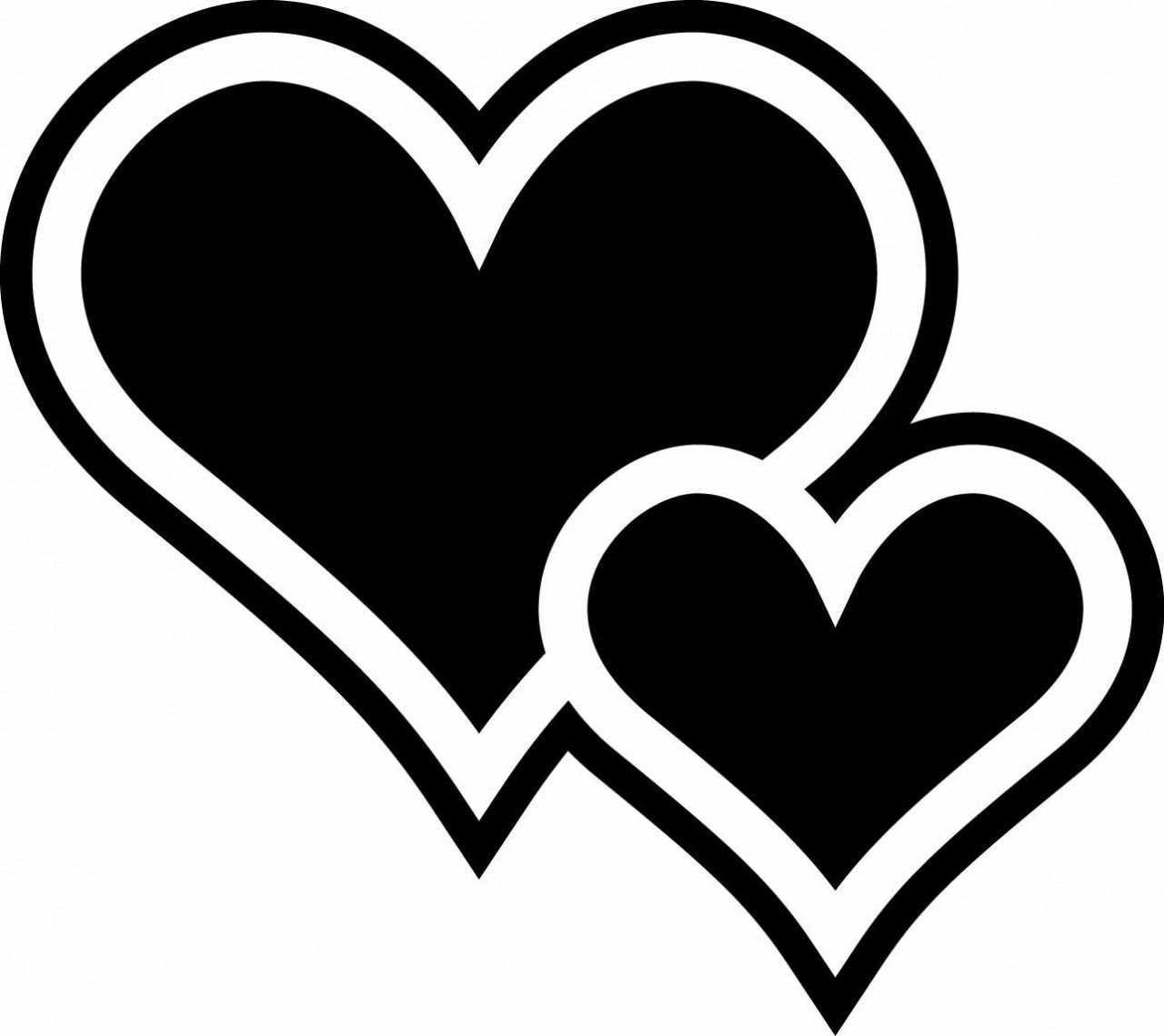 Two Hearts - ClipArt Best | Hearts ♥ L♥ve | Heart stencil ...