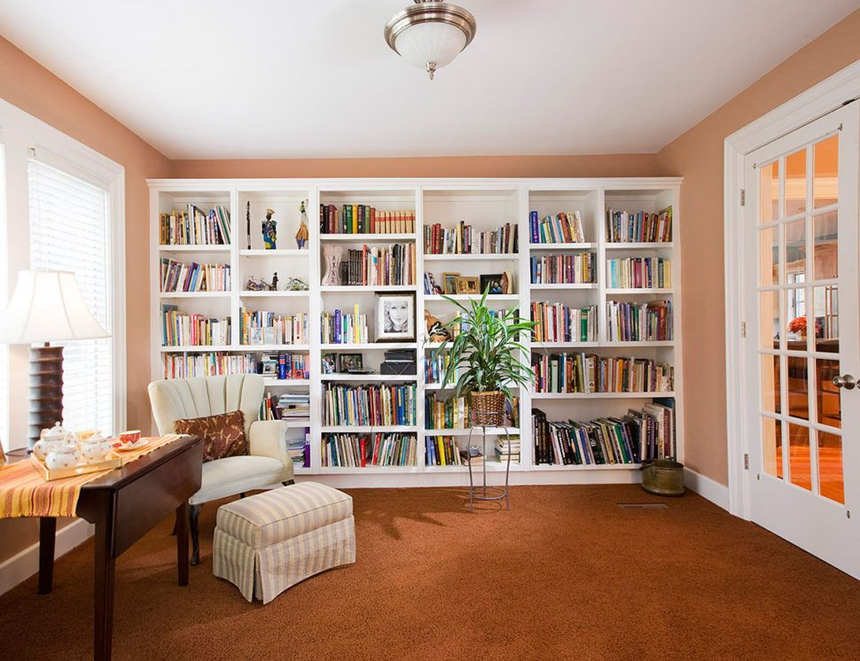 Interior Designs:Awesome Small Home Library Reading Room Design ...