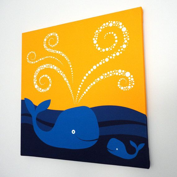 Whale fabric canvas art! My Sister in law makes these adorable ...