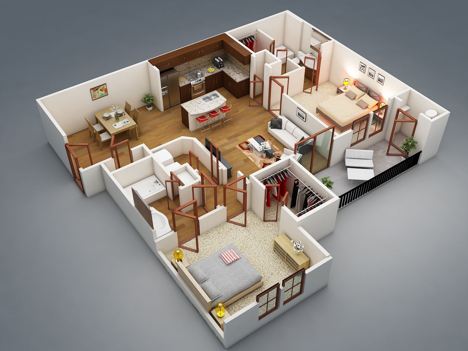 25 One Bedroom House/Apartment Plans | One bedroom house ...