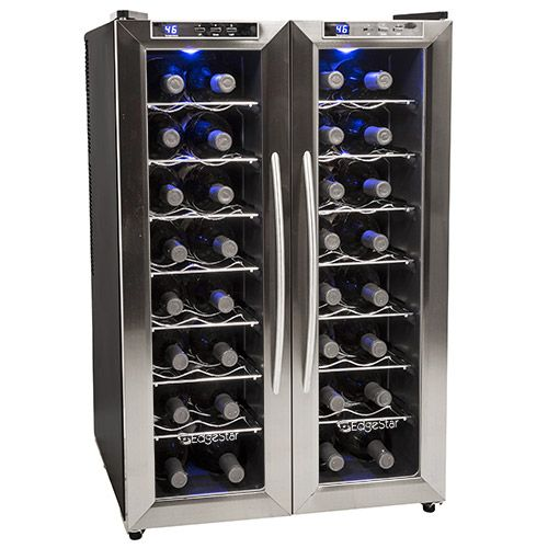 EdgeStar 32 Bottle Free Standing Dual Zone Wine Cooler w