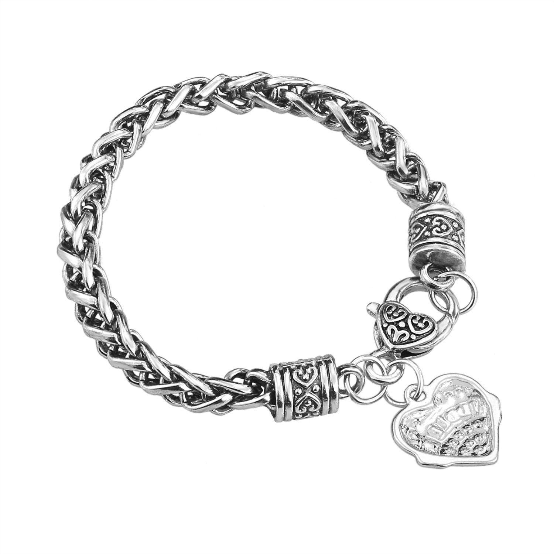 Medical ID Triple Navy//Silver Strand Beaded Interchangeable Bracelet 4 Sizes!