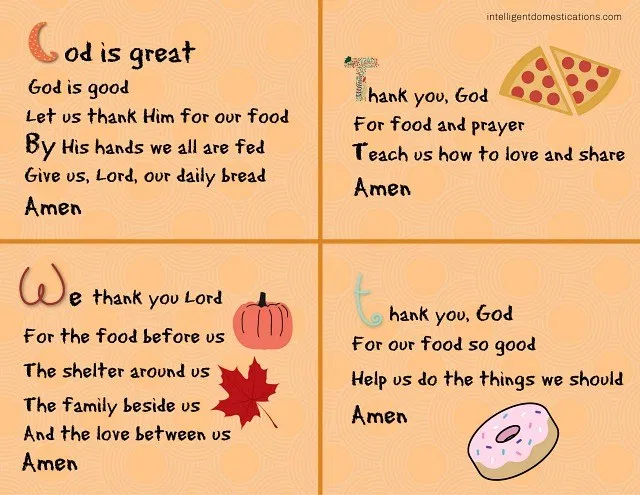 4 Short Prayers To Teach Children To Say Before A Meal Teaching Children To Say Grace Before A M Prayers For Children Mealtime Prayers Morning Prayer For Kids