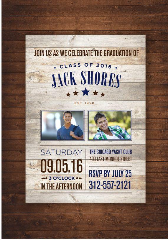 Middle School Graduation Party Invitations