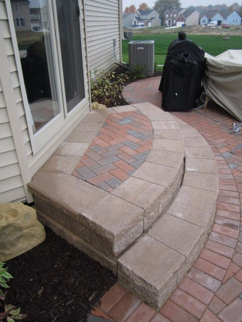 2 Step Curved Cement Steps Google Search Patio Steps